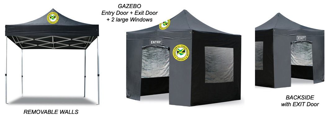 Gazebo tents with backside Door